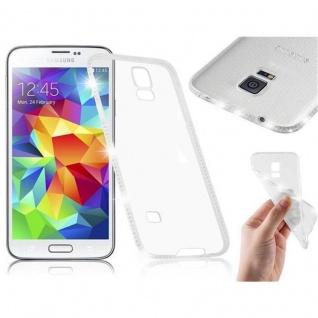 Cadorabo Hülle für Samsung Galaxy S5 / S5 NEO - Hülle in TRANSPARENT WEIß ? Handyhülle aus TPU Silikon im Strass Design - Silikonhülle Schutzhülle Ultra Slim Soft Back Cover Case Bumper