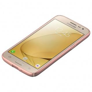 Cadorabo Hülle für Samsung Galaxy J2 2016 in METALL ROSÉ GOLD - Hardcase Handyhülle aus Plastik gegen Kratzer und Stöße - Schutzhülle Bumper Ultra Slim Back Case Hard Cover - Vorschau 3
