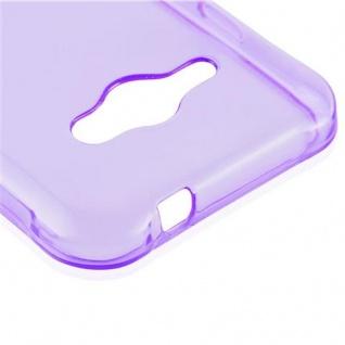 Cadorabo Hülle für Samsung Galaxy J1 ACE in TRANSPARENT LILA - Handyhülle aus flexiblem TPU Silikon - Silikonhülle Schutzhülle Ultra Slim Soft Back Cover Case Bumper - Vorschau 4