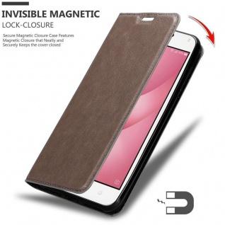 Cadorabo Hülle für Asus ZenFone 4 MAX (5, 2 Zoll) in KAFFEE BRAUN - Handyhülle mit Magnetverschluss, Standfunktion und Kartenfach - Case Cover Schutzhülle Etui Tasche Book Klapp Style - Vorschau 3