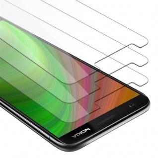 Cadorabo 3x Panzer Folie für Nokia 3.1 2018 - Schutzfolie in KRISTALL KLAR - 3er Pack Gehärtetes (Tempered) Display-Schutzglas in 9H Härte mit 3D Touch Kompatibilität