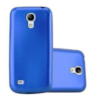 Cadorabo Hülle für Samsung Galaxy S4 MINI in METALLIC BLAU - Handyhülle aus flexiblem TPU Silikon - Silikonhülle Schutzhülle Ultra Slim Soft Back Cover Case Bumper