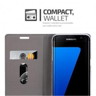 Cadorabo Hülle für Samsung Galaxy S7 EDGE in DUNKEL BLAU BRAUN - Handyhülle mit Magnetverschluss, Standfunktion und Kartenfach - Case Cover Schutzhülle Etui Tasche Book Klapp Style - Vorschau 3