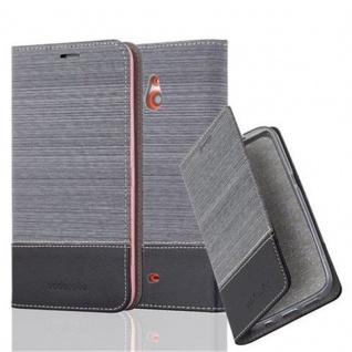 Cadorabo Hülle für Nokia Lumia 1320 in GRAU SCHWARZ - Handyhülle mit Magnetverschluss, Standfunktion und Kartenfach - Case Cover Schutzhülle Etui Tasche Book Klapp Style