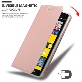Cadorabo Hülle für Nokia Lumia 1520 in CLASSY ROSÉ GOLD - Handyhülle mit Magnetverschluss, Standfunktion und Kartenfach - Case Cover Schutzhülle Etui Tasche Book Klapp Style - Vorschau 3