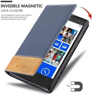 Cadorabo Hülle für Nokia Lumia 1020 in DUNKEL BLAU BRAUN - Handyhülle mit Magnetverschluss, Standfunktion und Kartenfach - Case Cover Schutzhülle Etui Tasche Book Klapp Style - Vorschau 3