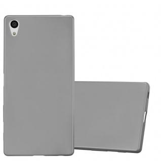 Cadorabo Hülle für Sony Xperia Z5 PREMIUM in METALLIC GRAU - Handyhülle aus flexiblem TPU Silikon - Silikonhülle Schutzhülle Ultra Slim Soft Back Cover Case Bumper