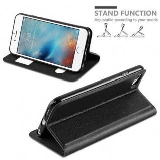 Cadorabo Hülle für Apple iPhone 6 / iPhone 6S in KOMETEN SCHWARZ - Handyhülle mit Magnetverschluss, Standfunktion und 2 Sichtfenstern - Case Cover Schutzhülle Etui Tasche Book Klapp Style - Vorschau 3