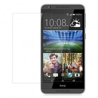 Cadorabo Panzer Folie für HTC Desire 820 Schutzfolie in KRISTALL KLAR Gehärtetes (Tempered) Display-Schutzglas in 9H Härte mit 3D Touch Kompatibilität