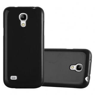 Cadorabo Hülle für Samsung Galaxy S4 MINI in JELLY SCHWARZ ? Handyhülle aus flexiblem TPU Silikon ? Silikonhülle Schutzhülle Ultra Slim Soft Back Cover Case Bumper