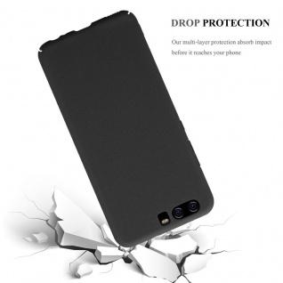 Cadorabo Hülle für Huawei P10 in FROSTY SCHWARZ - Hardcase Handyhülle aus Plastik gegen Kratzer und Stöße - Schutzhülle Bumper Ultra Slim Back Case Hard Cover - Vorschau 4