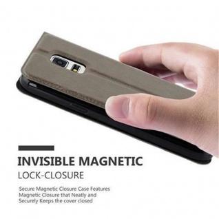 Cadorabo Hülle für Samsung Galaxy S5 / S5 NEO in STEIN BRAUN ? Handyhülle mit Magnetverschluss, Standfunktion und 2 Sichtfenstern ? Case Cover Schutzhülle Etui Tasche Book Klapp Style - Vorschau 5
