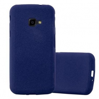 Cadorabo Hülle für Samsung Galaxy XCover 4 / XCover 4S in FROST DUNKEL BLAU Handyhülle aus flexiblem TPU Silikon Silikonhülle Schutzhülle Ultra Slim Soft Back Cover Case Bumper