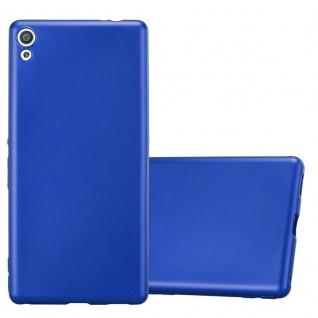 Cadorabo Hülle für Sony Xperia XA ULTRA in METALLIC BLAU - Handyhülle aus flexiblem TPU Silikon - Silikonhülle Schutzhülle Ultra Slim Soft Back Cover Case Bumper