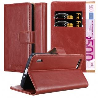 Cadorabo Hülle für Honor 6 PLUS in WEIN ROT ? Handyhülle mit Magnetverschluss, Standfunktion und Kartenfach ? Case Cover Schutzhülle Etui Tasche Book Klapp Style
