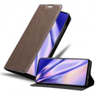 Cadorabo Hülle für Samsung Galaxy A71 in KAFFEE BRAUN Handyhülle mit Magnetverschluss, Standfunktion und Kartenfach Case Cover Schutzhülle Etui Tasche Book Klapp Style