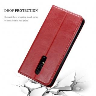Cadorabo Hülle für One Plus 6 in APFEL ROT Handyhülle mit Magnetverschluss, Standfunktion und Kartenfach Case Cover Schutzhülle Etui Tasche Book Klapp Style - Vorschau 5