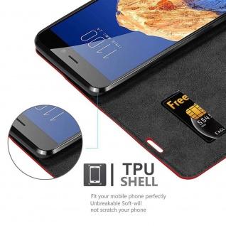 Cadorabo Hülle für ZTE Nubia N1 in APFEL ROT Handyhülle mit Magnetverschluss, Standfunktion und Kartenfach Case Cover Schutzhülle Etui Tasche Book Klapp Style - Vorschau 4