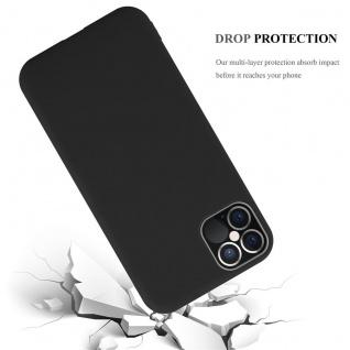 "Cadorabo Hülle für Apple iPhone 12 / iPhone 12 Pro (6, 1"" Zoll) in CANDY SCHWARZ Handyhülle aus flexiblem TPU Silikon Silikonhülle Schutzhülle Ultra Slim Soft Back Cover Case Bumper"