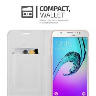 Cadorabo Hülle für Samsung Galaxy J5 2016 in CLASSY SILBER - Handyhülle mit Magnetverschluss, Standfunktion und Kartenfach - Case Cover Schutzhülle Etui Tasche Book Klapp Style - Vorschau 3
