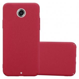 Cadorabo Hülle für Motorola NEXUS 6 in FROSTY ROT - Hardcase Handyhülle aus Plastik gegen Kratzer und Stöße - Schutzhülle Bumper Ultra Slim Back Case Hard Cover