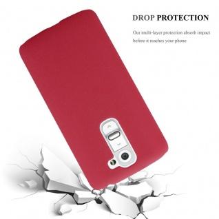 Cadorabo Hülle für LG G2 MINI in FROSTY ROT - Hardcase Handyhülle aus Plastik gegen Kratzer und Stöße - Schutzhülle Bumper Ultra Slim Back Case Hard Cover - Vorschau 3