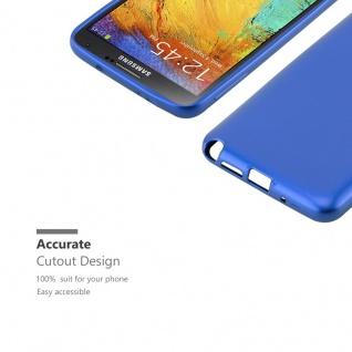 Cadorabo Hülle für Samsung Galaxy NOTE 3 in METALLIC BLAU - Handyhülle aus flexiblem TPU Silikon - Silikonhülle Schutzhülle Ultra Slim Soft Back Cover Case Bumper - Vorschau 2