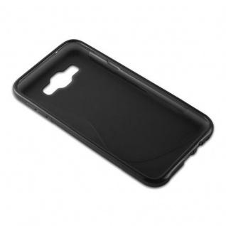 Cadorabo Hülle für Samsung Galaxy E7 2015 in OXID SCHWARZ - Handyhülle aus flexiblem TPU Silikon - Silikonhülle Schutzhülle Ultra Slim Soft Back Cover Case Bumper - Vorschau 3