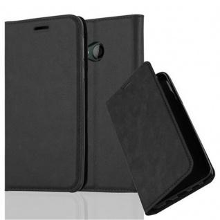 Cadorabo Hülle für HTC U PLAY in NACHT SCHWARZ Handyhülle mit Magnetverschluss, Standfunktion und Kartenfach Case Cover Schutzhülle Etui Tasche Book Klapp Style