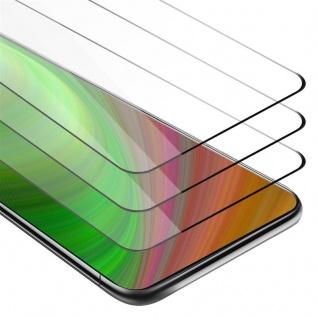 Cadorabo 3x Vollbild Panzer Folie für Samsung Galaxy A80 / A90 - Schutzfolie in TRANSPARENT mit SCHWARZ - 3er Pack Gehärtetes (Tempered) Display-Schutzglas in 9H Härte mit 3D Touch