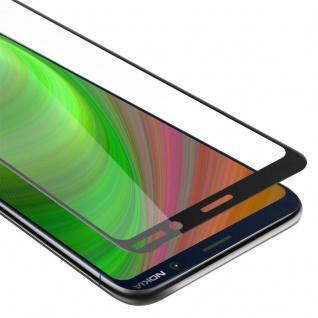 Cadorabo Vollbild Panzer Folie für Nokia 7 PLUS - Schutzfolie in TRANSPARENT mit SCHWARZ - Gehärtetes (Tempered) Display-Schutzglas in 9H Härte mit 3D Touch Kompatibilität