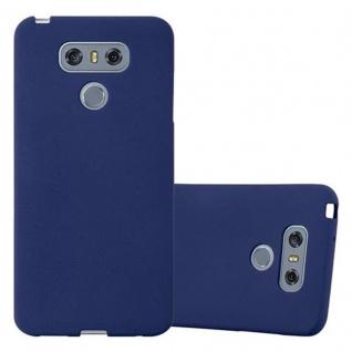 Cadorabo Hülle für LG G6 in FROST DUNKEL BLAU - Handyhülle aus flexiblem TPU Silikon - Silikonhülle Schutzhülle Ultra Slim Soft Back Cover Case Bumper