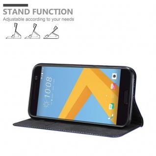 Cadorabo Hülle für HTC 10 (One M10) in DUNKEL BLAU BRAUN - Handyhülle mit Magnetverschluss, Standfunktion und Kartenfach - Case Cover Schutzhülle Etui Tasche Book Klapp Style - Vorschau 4
