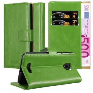 Cadorabo Hülle für WIKO VIEW GO in GRAS GRÜN Handyhülle mit Magnetverschluss, Standfunktion und Kartenfach Case Cover Schutzhülle Etui Tasche Book Klapp Style