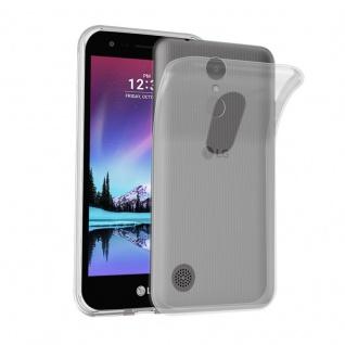 Cadorabo Hülle für LG K4 2017 in VOLL TRANSPARENT - Handyhülle aus flexiblem TPU Silikon - Silikonhülle Schutzhülle Ultra Slim Soft Back Cover Case Bumper