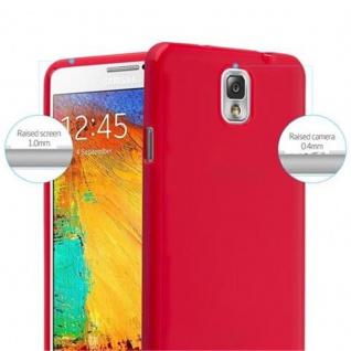 Cadorabo Hülle für Samsung Galaxy NOTE 3 in JELLY ROT ? Handyhülle aus flexiblem TPU Silikon ? Silikonhülle Schutzhülle Ultra Slim Soft Back Cover Case Bumper - Vorschau 5