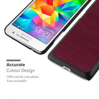 Cadorabo Hülle für Samsung Galaxy J5 2015 in WOODY ROT ? Hardcase Handyhülle aus Plastik gegen Kratzer und Stöße ? Schutzhülle Bumper Ultra Slim Back Case Hard Cover - Vorschau 5
