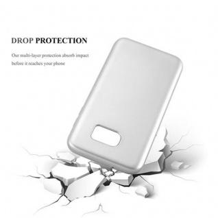 Cadorabo Hülle für Samsung Galaxy S7 EDGE in METALLIC SILBER - Handyhülle aus flexiblem TPU Silikon - Silikonhülle Schutzhülle Ultra Slim Soft Back Cover Case Bumper - Vorschau 3