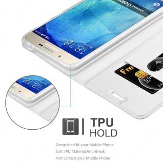 Cadorabo Hülle für Samsung Galaxy A8 2015 in CLASSY SILBER - Handyhülle mit Magnetverschluss, Standfunktion und Kartenfach - Case Cover Schutzhülle Etui Tasche Book Klapp Style - Vorschau 2