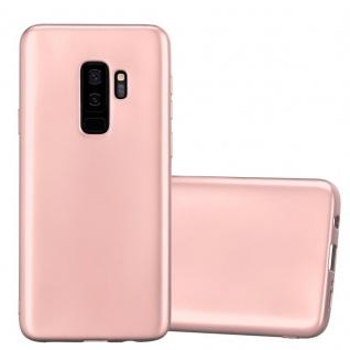 Cadorabo Hülle für Samsung Galaxy S9 PLUS in METALLIC ROSÉ GOLD - Handyhülle aus flexiblem TPU Silikon - Silikonhülle Schutzhülle Ultra Slim Soft Back Cover Case Bumper