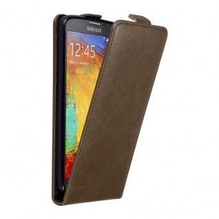 Cadorabo Hülle für Samsung Galaxy NOTE 3 NEO in KAFFEE BRAUN Handyhülle im Flip Design mit unsichtbarem Magnetverschluss Case Cover Schutzhülle Etui Tasche Book Klapp Style