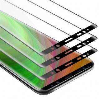 Cadorabo 3x Vollbild Panzer Folie für Samsung Galaxy NOTE 9 - Schutzfolie in TRANSPARENT mit SCHWARZ - 3er Pack Gehärtetes (Tempered) Display-Schutzglas in 9H Härte mit 3D Touch