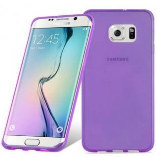 Cadorabo Hülle für Samsung Galaxy S6 EDGE PLUS in TRANSPARENT LILA - Handyhülle aus flexiblem TPU Silikon - Silikonhülle Schutzhülle Ultra Slim Soft Back Cover Case Bumper - Vorschau 2