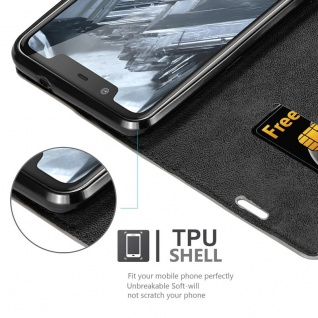 Cadorabo Hülle für Nokia 5.1 PLUS in KAFFEE BRAUN - Handyhülle mit Magnetverschluss, Standfunktion und Kartenfach - Case Cover Schutzhülle Etui Tasche Book Klapp Style - Vorschau 2