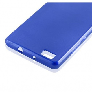 Cadorabo Hülle für Huawei P8 LITE 2015 in BLAU - Handyhülle aus flexiblem TPU Silikon - Silikonhülle Schutzhülle Ultra Slim Soft Back Cover Case Bumper - Vorschau 4