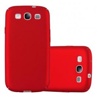 Cadorabo Hülle für Samsung Galaxy S3 / S3 NEO in METALL ROT ? Hardcase Handyhülle aus Plastik gegen Kratzer und Stöße ? Schutzhülle Bumper Ultra Slim Back Case Hard Cover