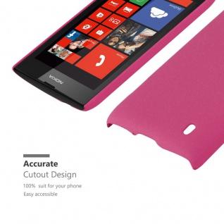 Cadorabo Hülle für Nokia Lumia 520 in FROSTY PINK - Hardcase Handyhülle aus Plastik gegen Kratzer und Stöße - Schutzhülle Bumper Ultra Slim Back Case Hard Cover - Vorschau 5