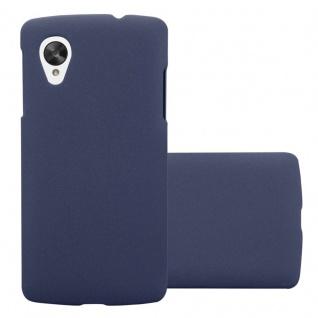 Cadorabo Hülle für LG Nexus 5 in FROSTY BLAU - Hardcase Handyhülle aus Plastik gegen Kratzer und Stöße - Schutzhülle Bumper Ultra Slim Back Case Hard Cover
