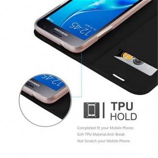 Cadorabo Hülle für Samsung Galaxy J1 2016 in CLASSY SCHWARZ - Handyhülle mit Magnetverschluss, Standfunktion und Kartenfach - Case Cover Schutzhülle Etui Tasche Book Klapp Style - Vorschau 2