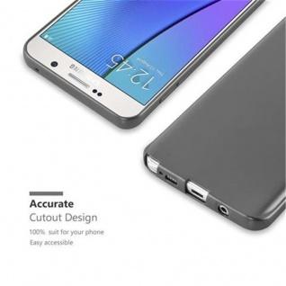 Cadorabo Hülle für Samsung Galaxy NOTE 5 in METALLIC GRAU - Handyhülle aus flexiblem TPU Silikon - Silikonhülle Schutzhülle Ultra Slim Soft Back Cover Case Bumper - Vorschau 2
